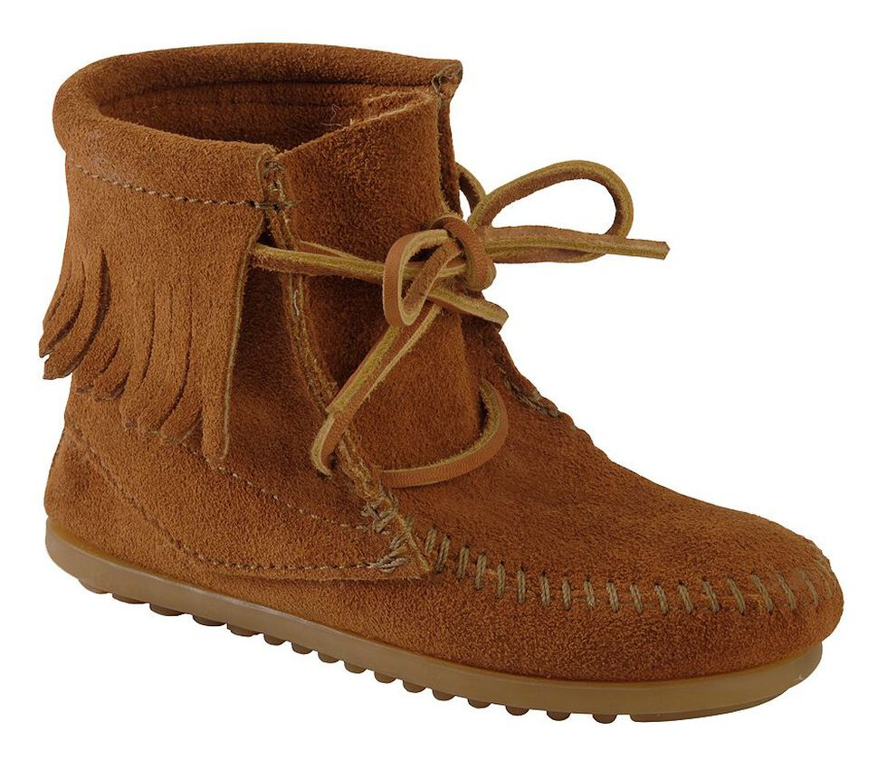 74d46a7c913d1 Minnetonka Girls' Ankle Tramper Moccasin Boots