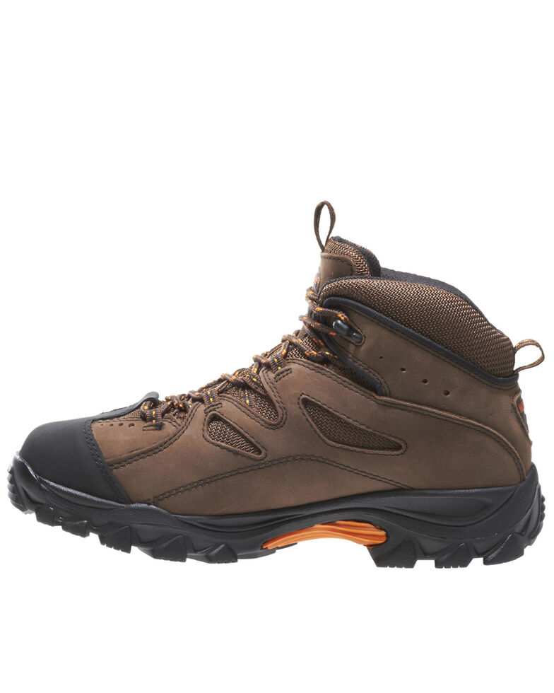"Wolverine 6"" Lace-Up Hudson Hiker Boots - Steel Toe, Dark Brown, hi-res"