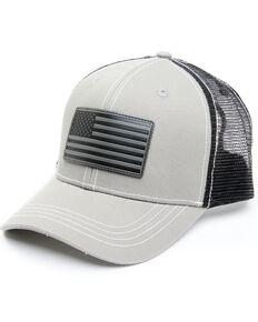 Cody James Men's Grey Flag Patch Mesh Back Ball Cap , Grey, hi-res