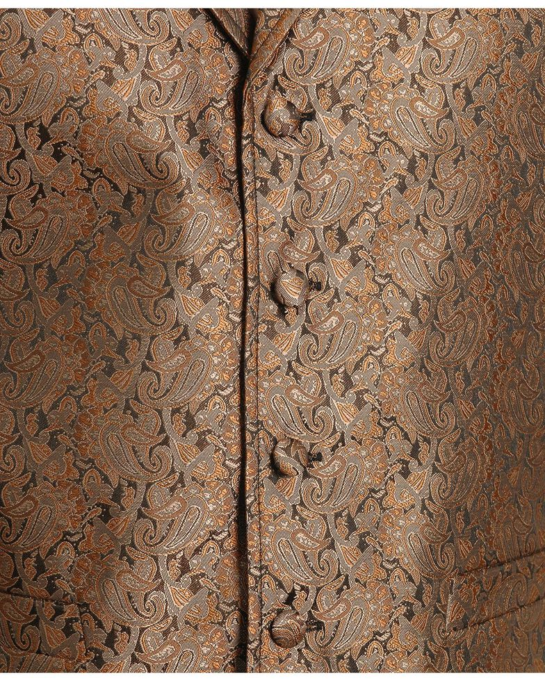 Rangewear by Scully Notched Lapel Paisley Print Vest, Brown, hi-res