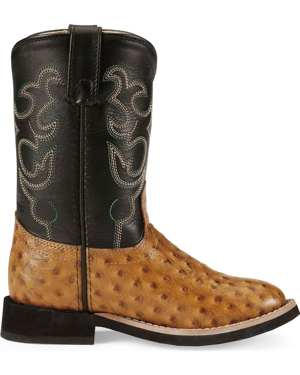 Smoky Mountain Children's Shawnee Cowboy Boots - Round Toe, Cognac, hi-res