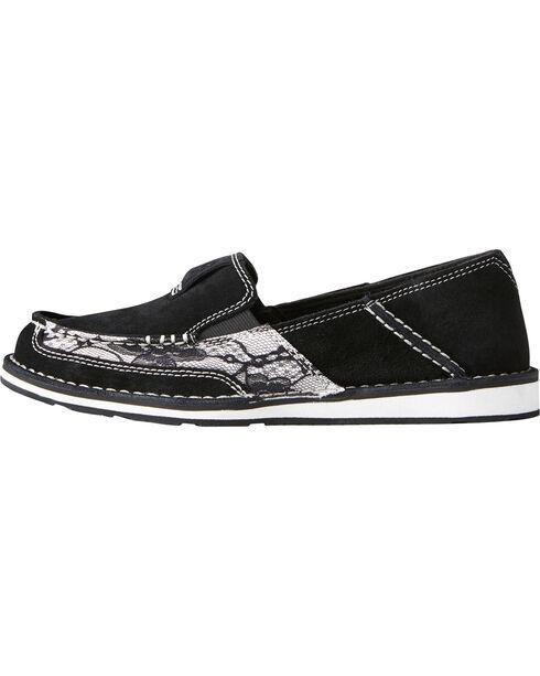 Ariat Women's Black Lace Cruiser Shoes - Moc Toe, Black, hi-res