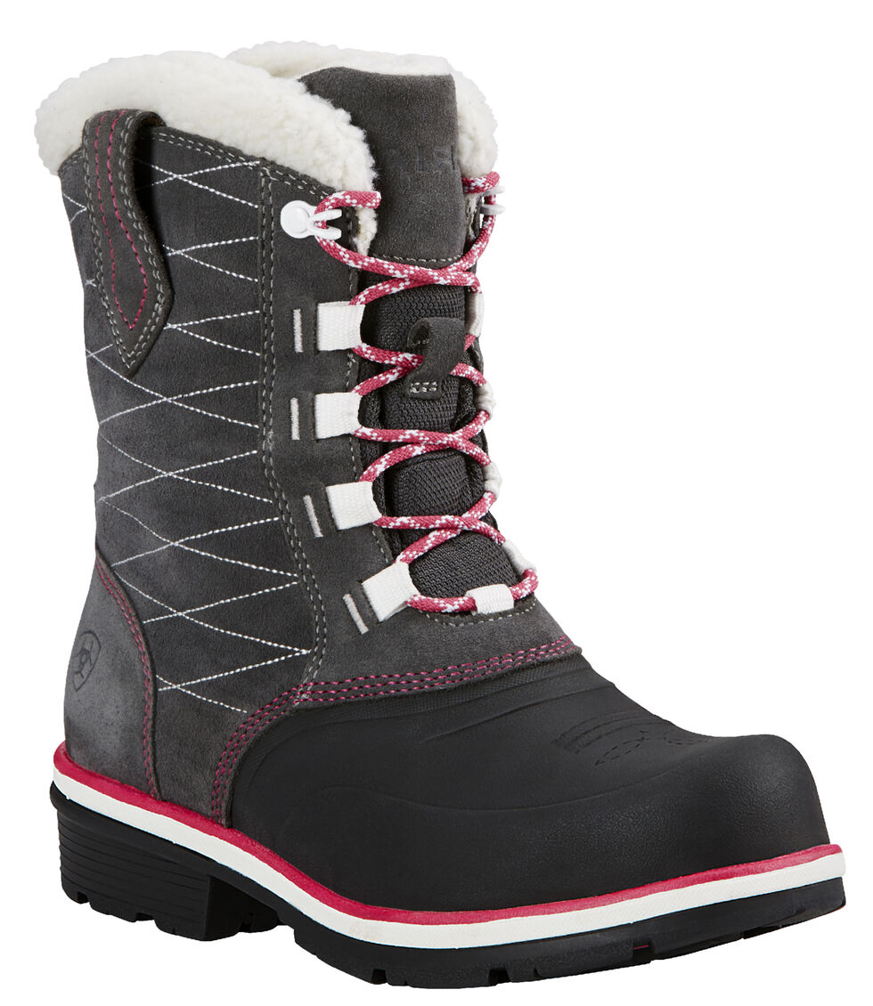 Ariat Pewter Whirlwind Cozy Lace-Up Cowgirl Boots - Round Toe, , hi-res