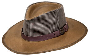 Outback Trading Co. Oilskin Kodiak with Mesh Hat, Tan, hi-res
