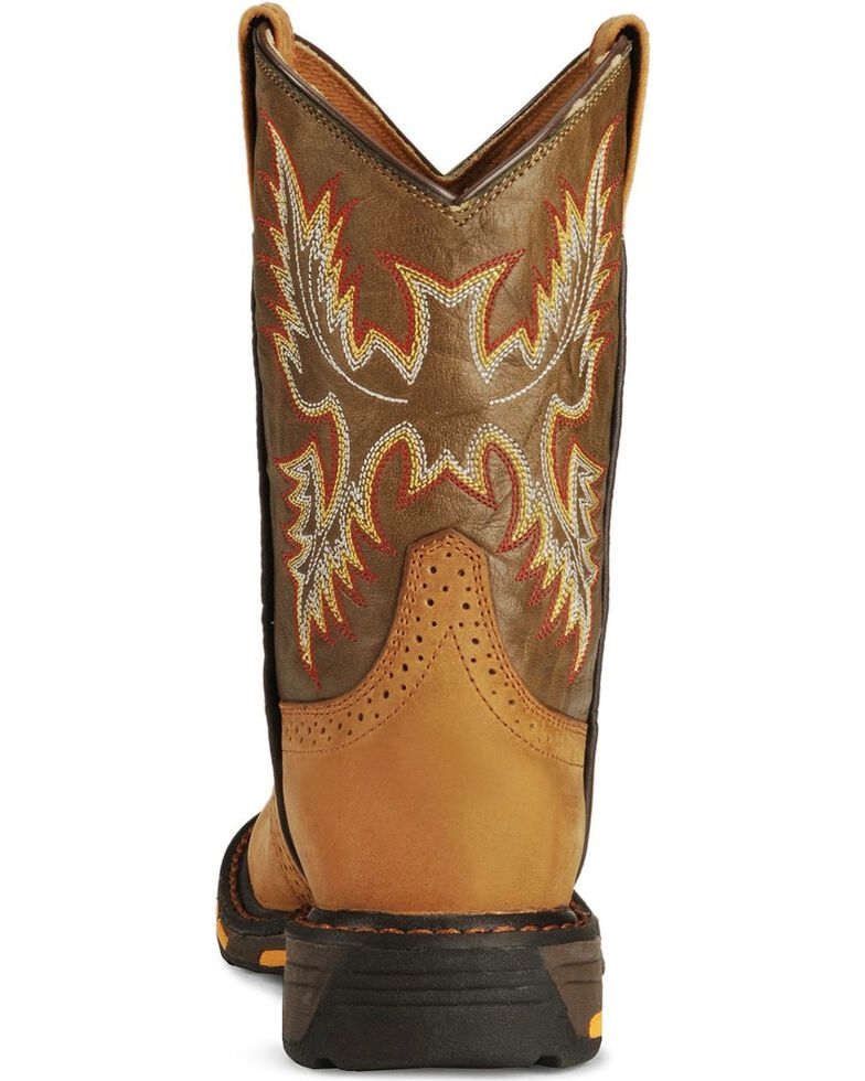 f130e032789 Ariat Youth Boys' Aged Bark Workhog Cowboy Boots