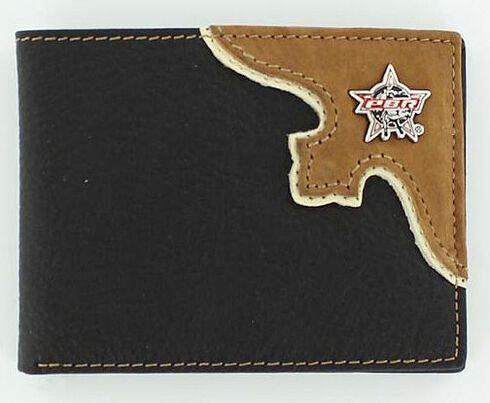 PBR Western Leather Billfold, Black, hi-res