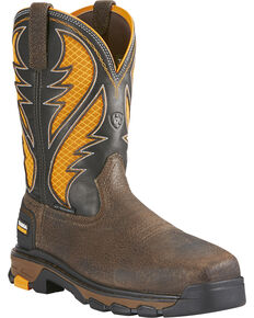 Ariat Men's Brown Intrepid VentTEK Work Boots - Composite Toe , Brown, hi-res