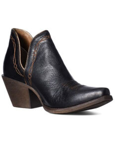 Ariat Women's Encore Brooklyn Fashion Booties - Snip Toe, Black, hi-res