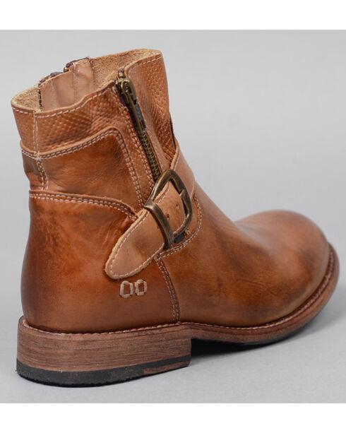Bed Stu Women's Becca Side Zip Buckle Boots - Round Toe , Tan, hi-res