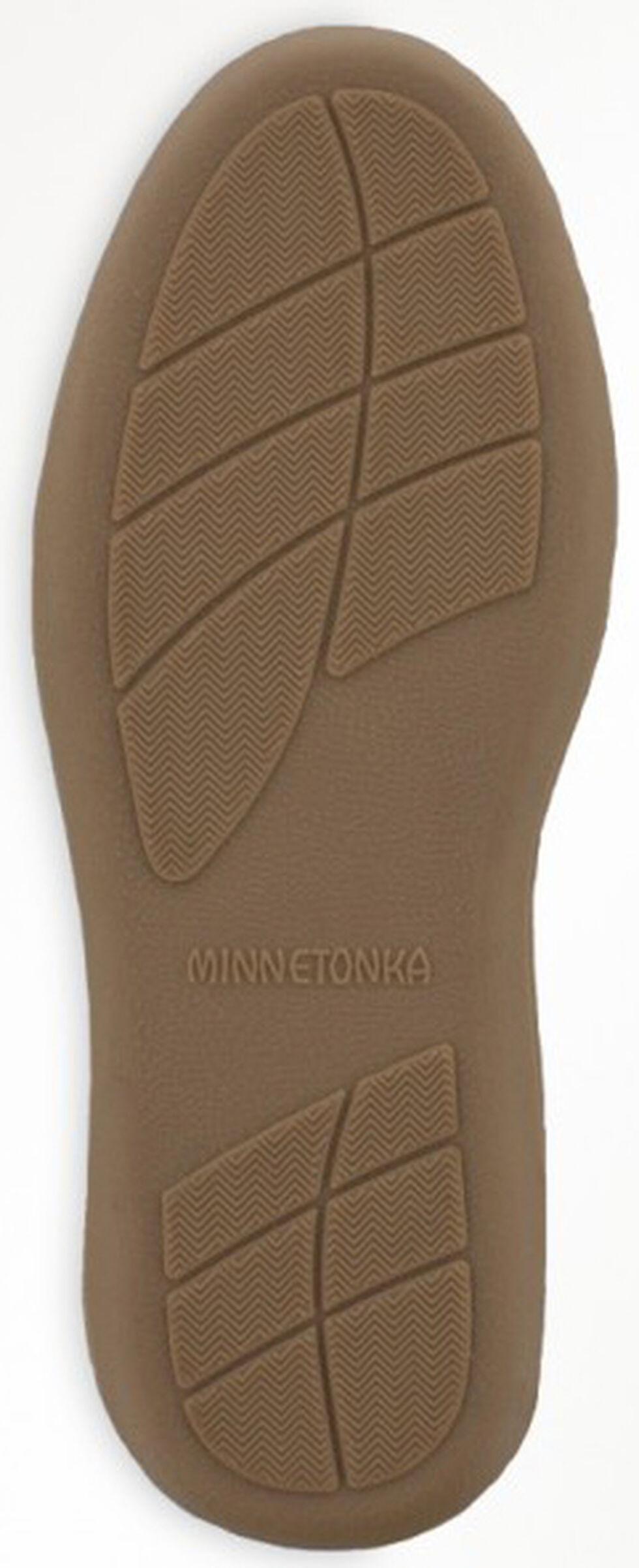 Minnetonka Women's Sheepskin Hardsole Moccasins, Tan, hi-res