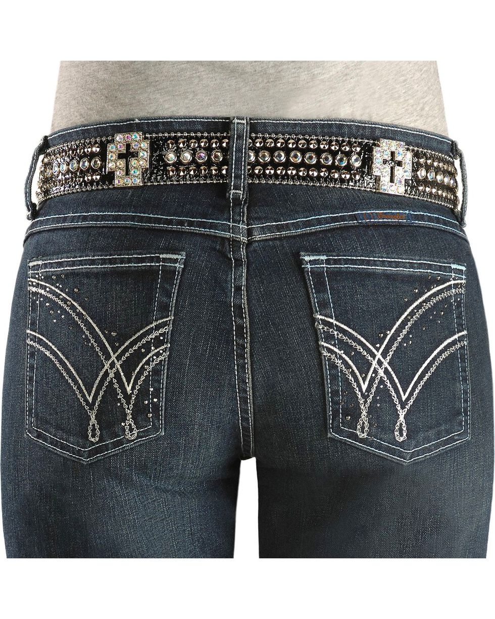Wrangler Women's Absolute Star Ultimate Riding Q-Baby Jeans , Denim, hi-res