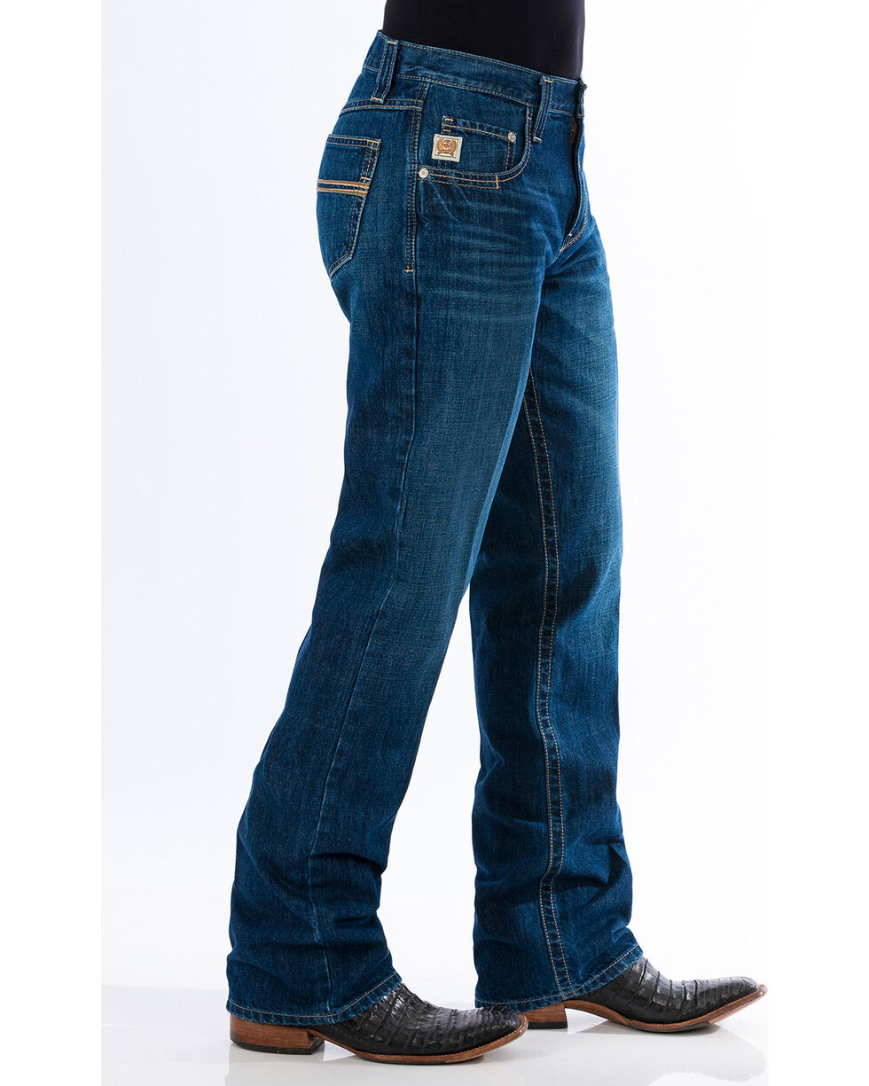 Cinch Men's Carter 2.0 Dark Stonewash Relaxed Fit Jeans - Boot Cut, Indigo, hi-res