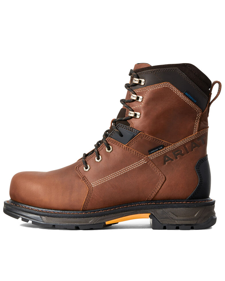 Ariat Men's Waterproof Workhog Work Boots - Carbon Toe, Brown, hi-res