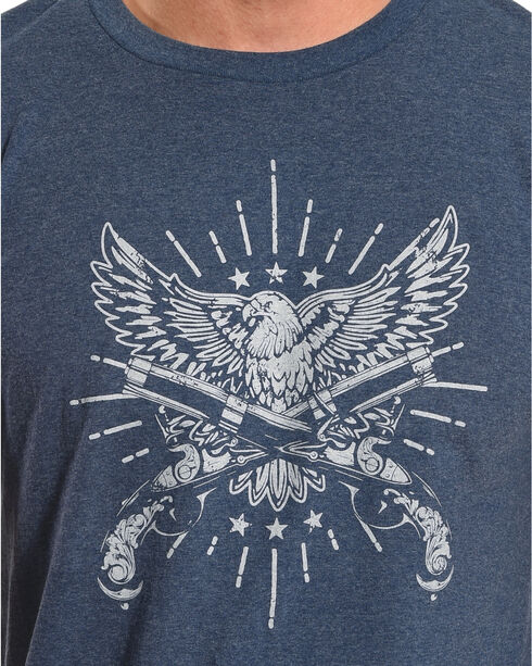 Cody James Men's Eagle and Pistol Graphic Tee , Heather Blue, hi-res