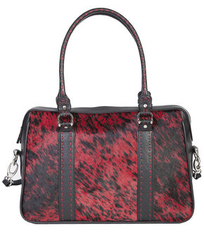 Scully Red Calf Hair Tote, Red, hi-res