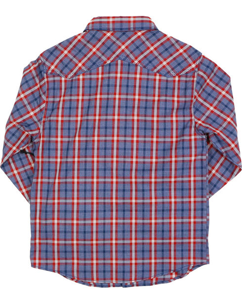 Cody James Boys' Plaid Long Sleeve Western Shirt, Red, hi-res