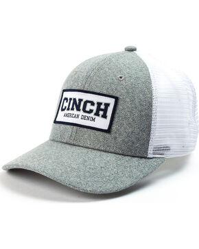 Cinch Men's Snap Back Mesh Trucker Cap, Grey, hi-res