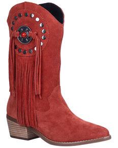 Dingo Women's Takin' Flight Western Boots - Round Toe, Red, hi-res