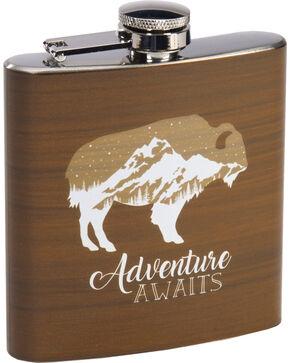 BB Ranch Buffalo Adventure Awaits Flask, Brown, hi-res