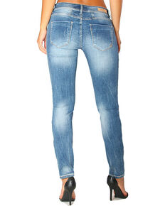 Grace in LA Women's Basic Skinny Jeans , Indigo, hi-res