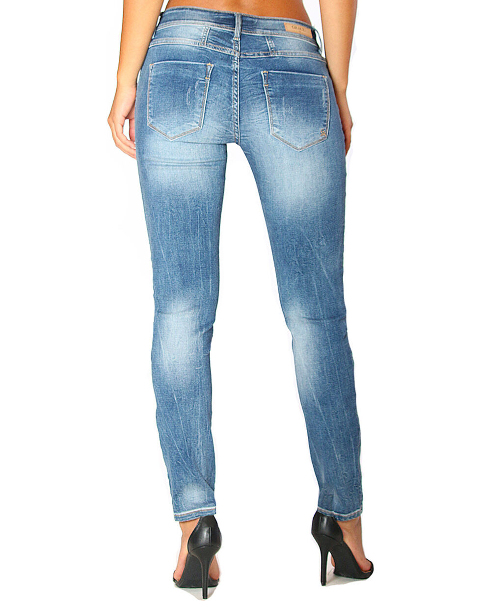 Grace in LA Women's Basic Skinny Jeans , Indigo, hi-res