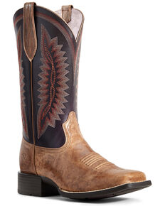 Ariat Women's Quickdraw Legacy Western Boots - Wide Square Toe, Brown, hi-res