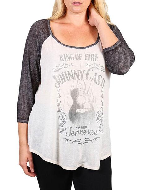 Signorelli Women's Project Johnny Cash Baseball Tee - Plus, Ivory, hi-res