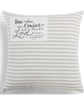 Demdaco Home Is Comfort Throw Pillow, White, hi-res