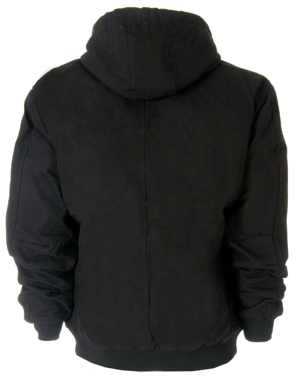 Berne Duck Original Hooded Jacket - 3XL and 4XL, Black, hi-res