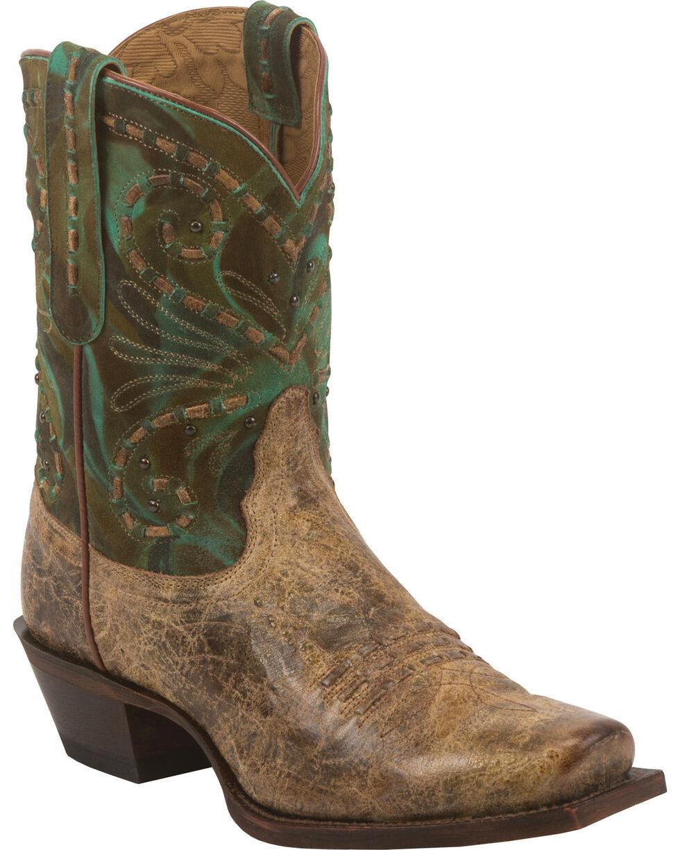 Tony Lama Brown Lava 100% Vaquero Cowgirl Booties - Square Toe, , hi-res
