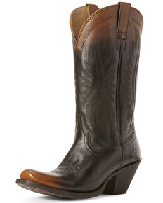 Ariat Women's Circuit Salem Western Boots - Square Toe, Chocolate, hi-res