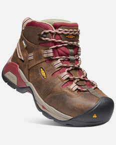Keen Women's Detroit XT Waterproof Work Boots - Steel Toe, Brown, hi-res