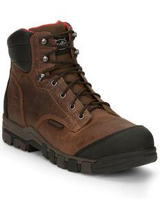 Justin Men's Bridger Waterproof Work Boots - Composite Toe, Brown, hi-res