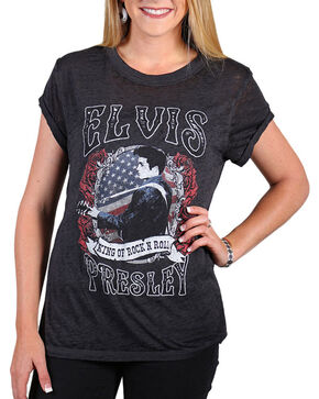 Signorelli Women's Elvis Presley Graphic Tee, Black, hi-res