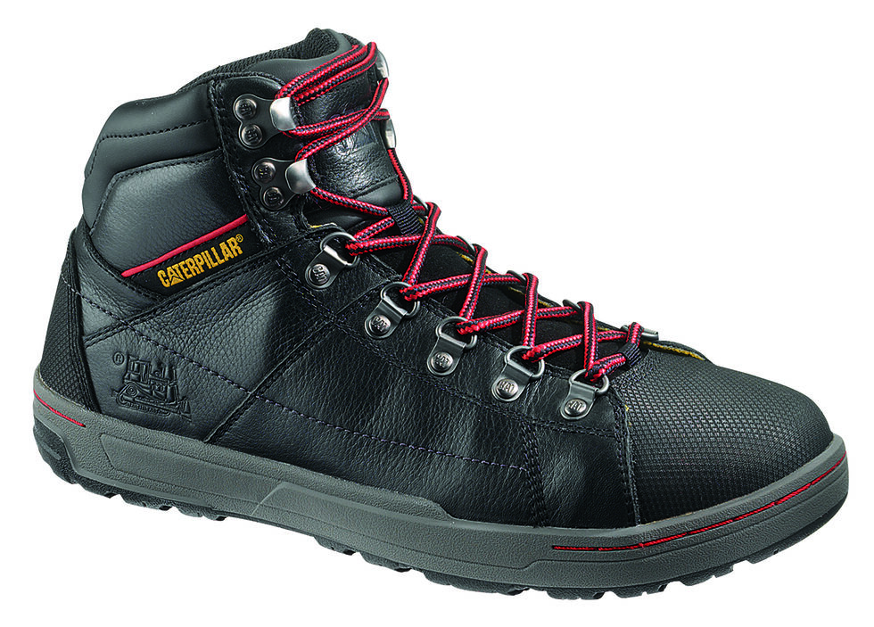 "Caterpillar Brode 5"" Work Boots - Steel Toe, Black, hi-res"