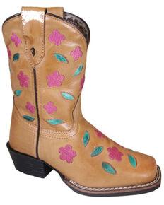 Smoky Mountain Girls' Azalea Western Boots - Square Toe, Brown, hi-res