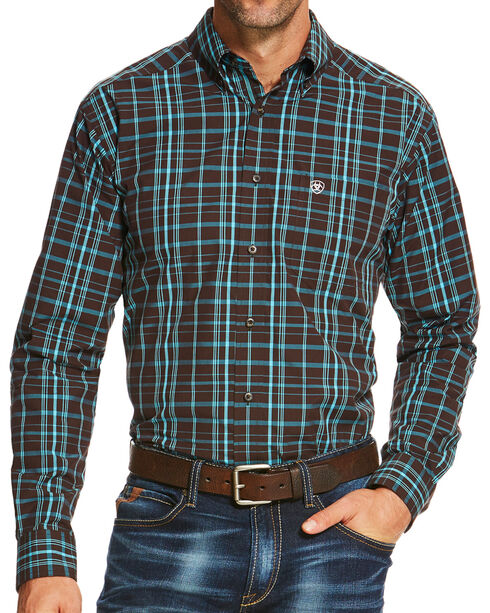 Ariat Men's Brown Palmer Long Sleeve Shirt , Brown, hi-res