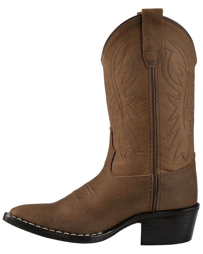 Cody James Youth Distressed Western Boots, Brown, hi-res