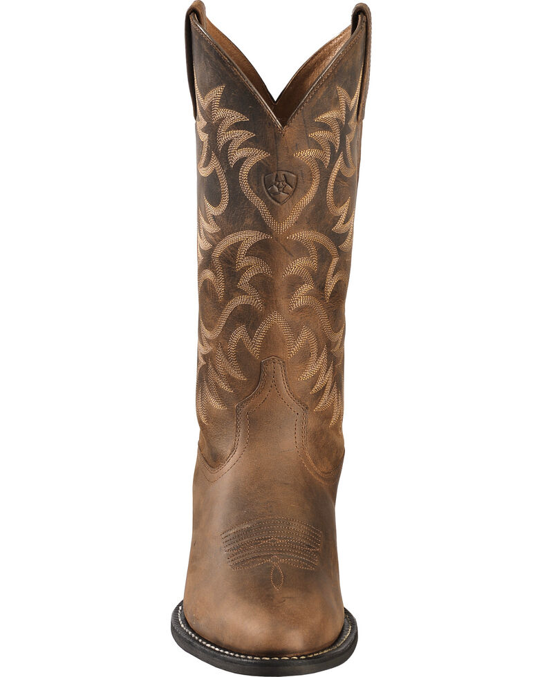 Ariat Men's Heritage Western Boots - Medium Toe, Distressed, hi-res