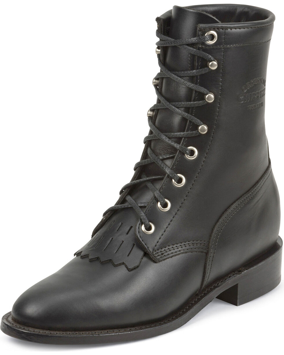 Chippewa Women's Whirlwind Original Lacer Boots - Round Toe, Black, hi-res