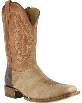 Corral Men's Shoulder Western Boots - Square Toe , Brown, hi-res
