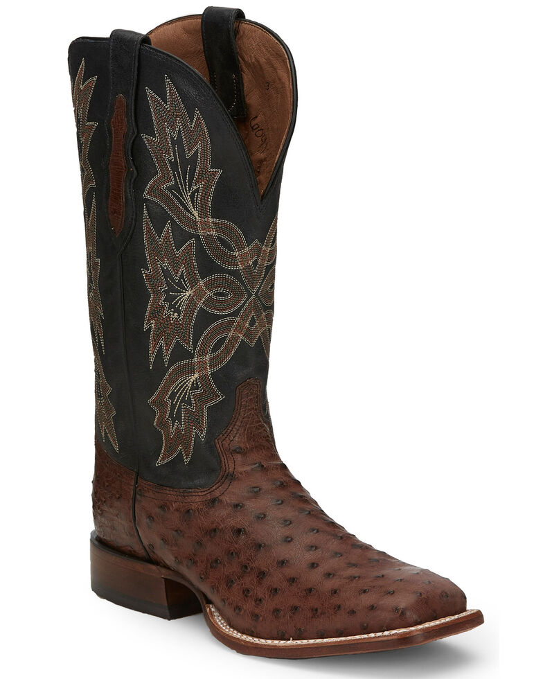 Tony Lama Men's Royston Kango Western Boots - Wide Square Toe, Brown, hi-res