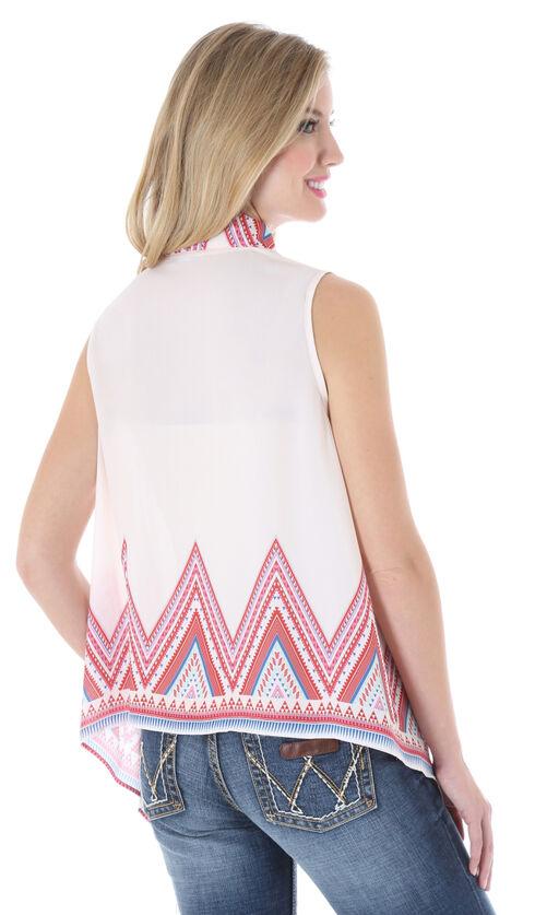 Wrangler Rock 47 Women's Cropped Pom Pom Vest, Ivory, hi-res