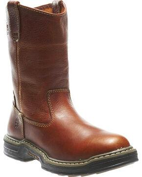 Wolverine Men's Raider Wellington Work Boots - Round Toe, Brown, hi-res