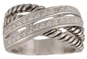 Montana Silversmiths Women's Double Band Wrap Ring, Silver, hi-res