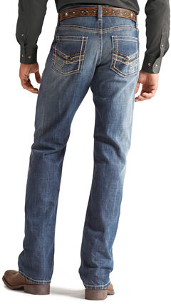 Ariat M4 Cliffhanger Medium Wash Jeans, Med Stone, hi-res