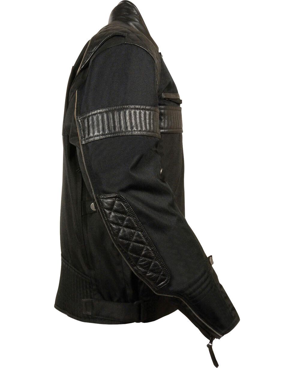 Milwaukee Leather Men's Black Textile Scooter Jacket - Big & Tall, Black, hi-res