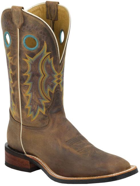 Tony Lama Suntan Century Americana Cowboy Boots - Square Toe , Suntan, hi-res
