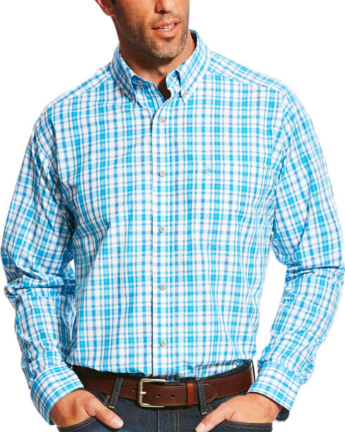 Ariat Men's Pro Series Lonnie Multi Plaid Long Sleeve Button Down Shirt - Big & Tall, Multi, hi-res