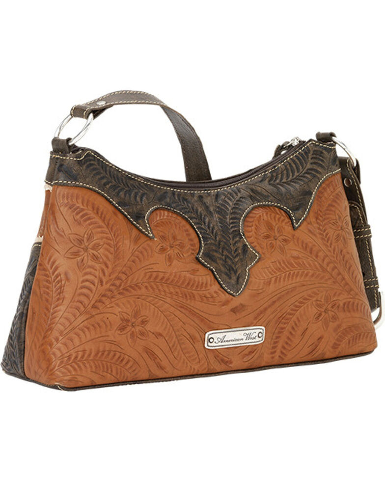American West Golden Tan Desert Wildflower Shoulder Bag, Tan, hi-res